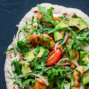 Flatbreads with Chicken Salad